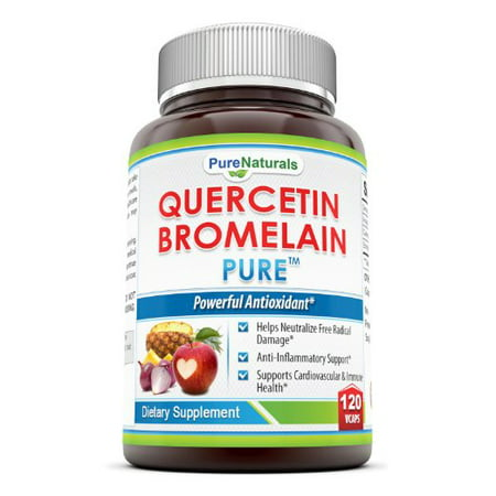 Pure Naturals  Quercetin 800 Mg With Bromelain 165 Mg  120 Vcaps