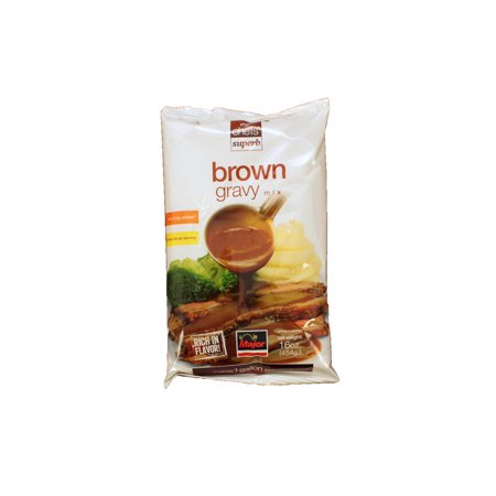 (Price/Pack)Major 83221 Brown Gravy Mix No Msg