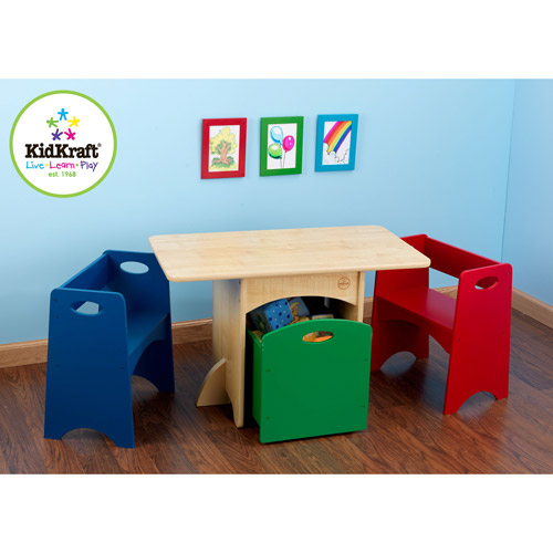 KidKraft Primary Table and Bench Set - 26161