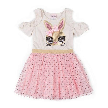 Cold Shoulder Tulle Skirt Dress (Baby Girls & Toddler Girls) (Tulle Dress Girl)