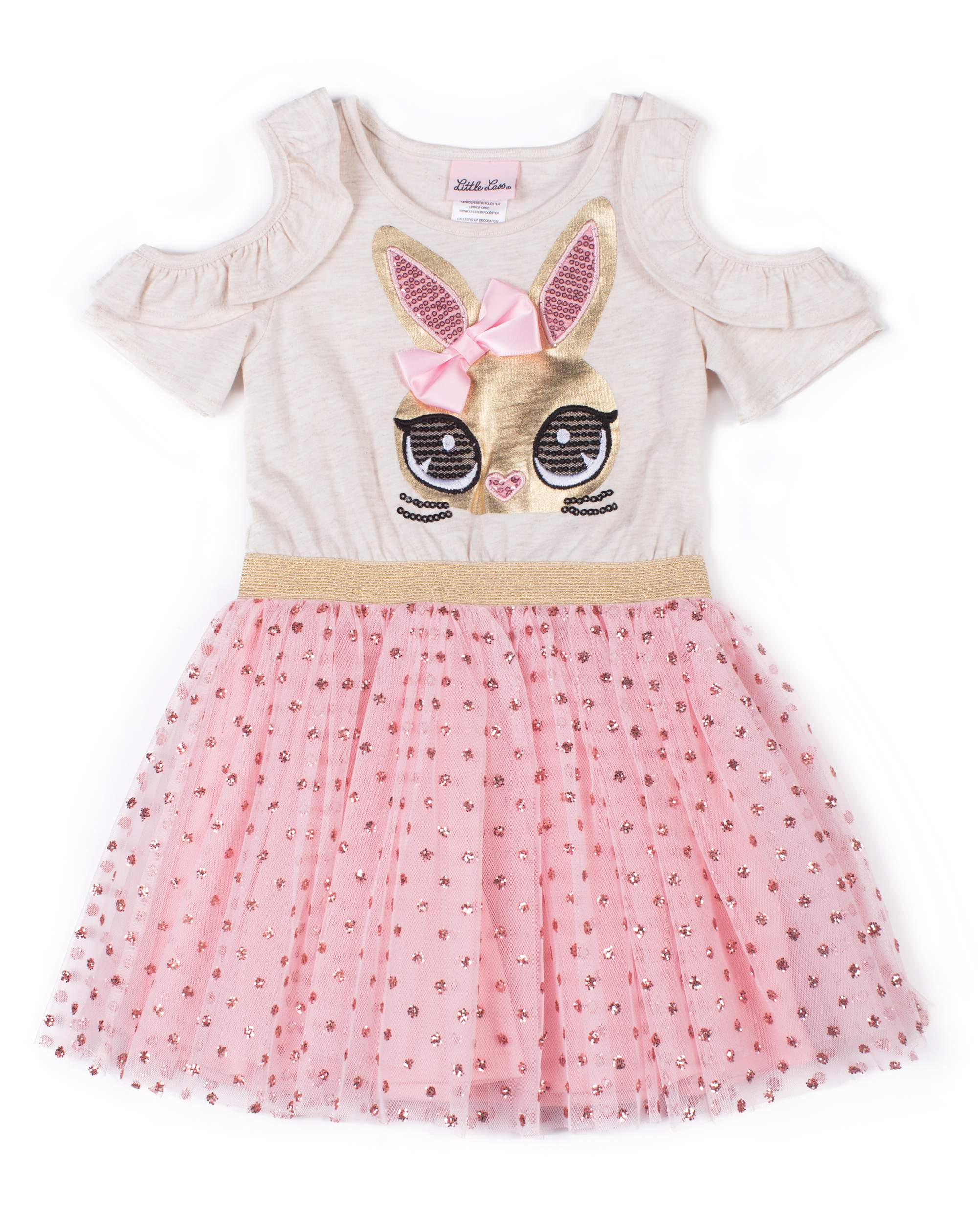 Cold Shoulder Tulle Skirt Dress (Baby Girls & Toddler Girls)