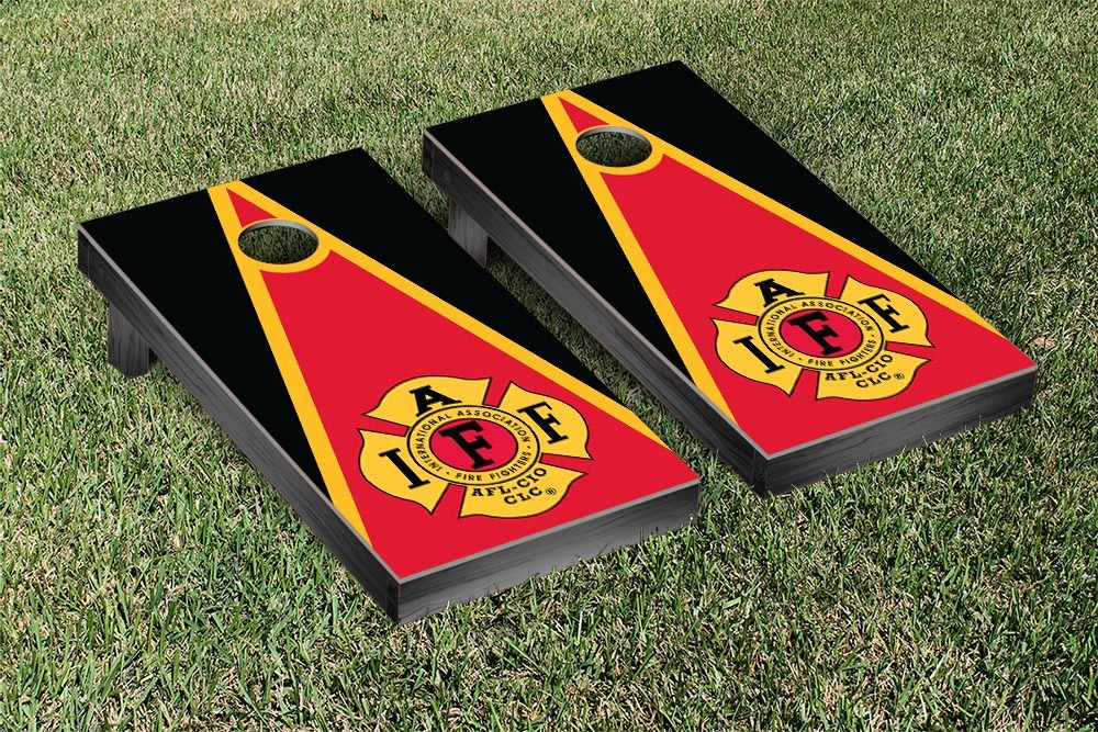 Iaff Fire Fighter Themed Cornhole Game Set by Victory Tailgate