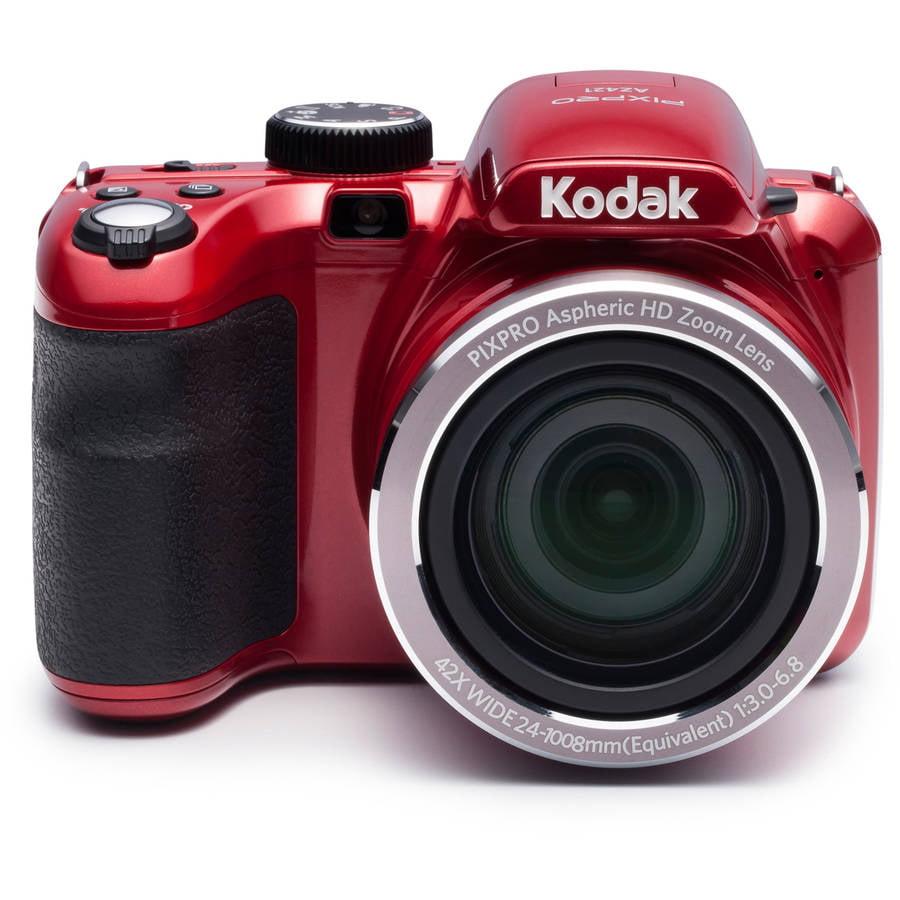 Kodak Red PIXPRO Astro Zoom AZ421 Digital Camera with 16 Megapixels and 42x Optical Zoom by Kodak