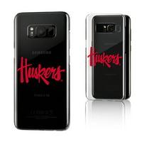 NU Nebraska Huskers Insignia Clear Case for Galaxy S8