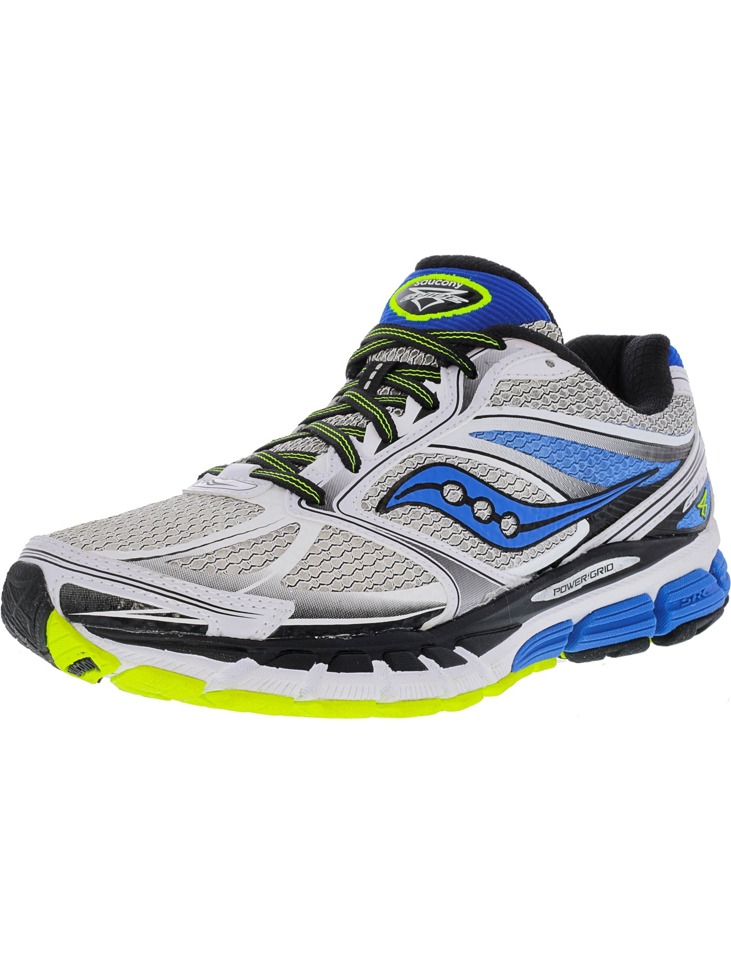 Saucony Men's Guide 8 White Blue Citron Ankle-High Running Shoe 7.5M by Saucony