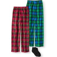 Mad Dog Boys 2-Pack Micro Fleece Sleep Pants with Slipper Sock