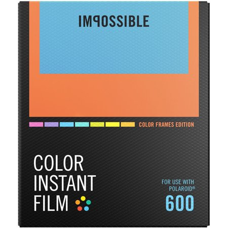 Impossible PRD-4522 Color Instant Film (Color Frame Edition) for Polaroid 600-Type Cameras