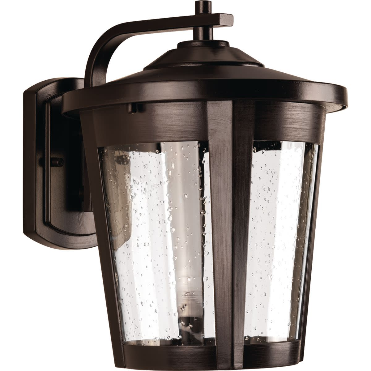"Progress Lighting P6079-LED East Haven LED 1 Light 12"" Tall Outdoor Wall Sconce with Seeded Glass Shade"