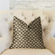 Plutus Galactic Ringlet Brown and Beige Luxury Throw Pillow