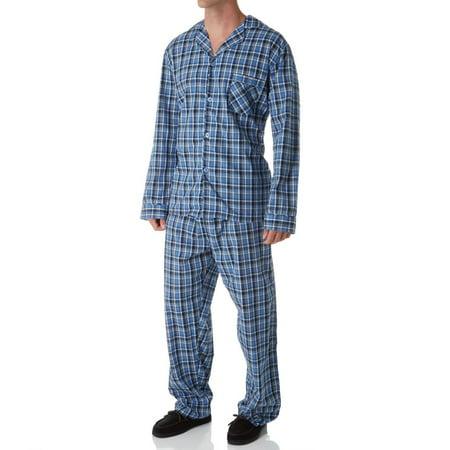 Men's Hanes 4016T Tall Man Classics Broadcloth Woven Pajama Set](Onesie For Tall Man)