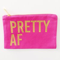 Effie?s Paper ?Pretty AF? Makeup Bag pouch, hot pink, metallic gold