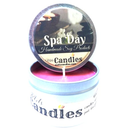 Spa Day 4 OUNCE All Natural Hand Made Tin Soy Candle (Smartlab All Natural Spa Day)
