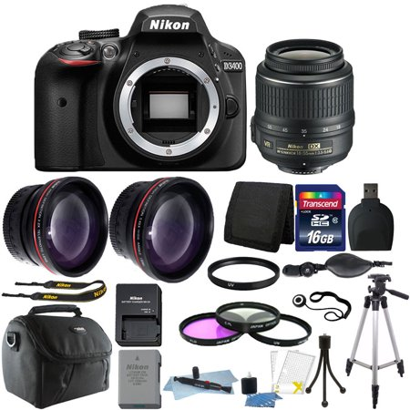 Nikon D3400 24MP Digital SLR Camera + 18-55mm Lens + 16GB Great Value Kit!