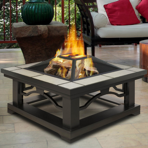 Real Flame Crestone Wood Burning Fire Pit