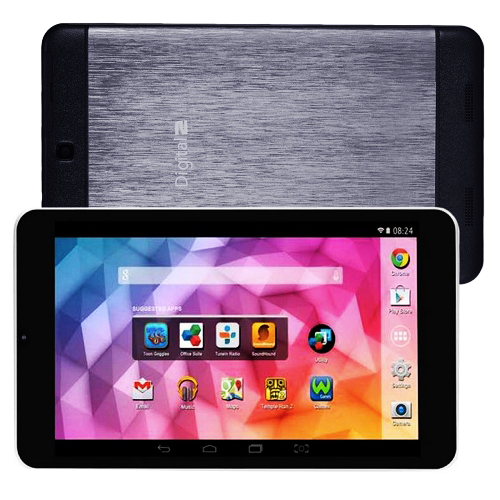 "Digital2 16GB 8"" WiFi Tablet Octa Core 1.7GHz Android 4.4 w/Dual Cameras - Black"