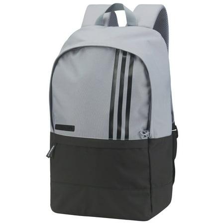 Adidas - ADIDAS 3-STRIPE BACKPACK SMALL MENS -GREY BLACK- BC2241- NEW 2018  - Walmart.com