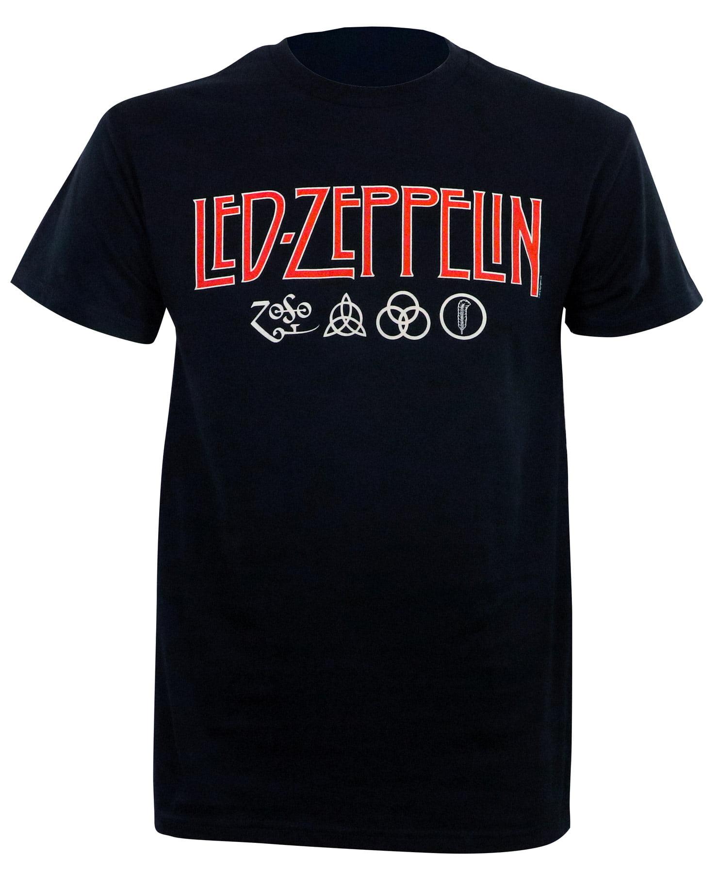 Led Zeppelin Celebration Day Official Men/'s Black T-Shirt
