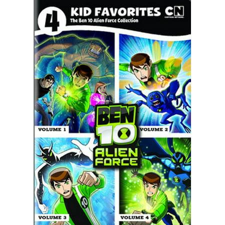 4 KID FAVORITES-CARTOON NETWORK-BEN 10 ALIEN FORCE (DVD/4 DISC) - Cartoon Network Next Halloween