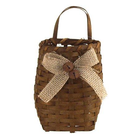 Wicker Baskets Burlap Straw Pouch, 5-1/2-Inch, Natural](Burlap Basket)