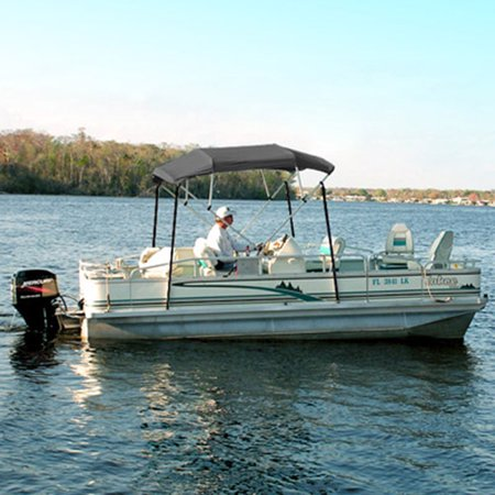 4 bow bimini top boat cover 91 96 gray pontoon fishing for Fishing deck boats
