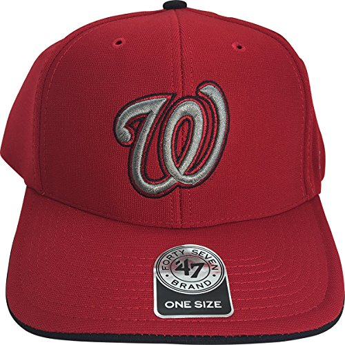 MLB Washington Nationals Photon 3-D W Logo MVP Adult Adjustable Cap Hat