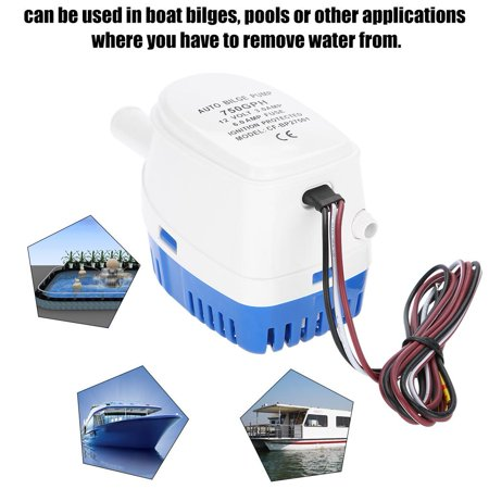 Anauto 12V Boat Automatic Submersible Bilge Water Pump With Float  Switch,Bilge Pump, Auto Bilge Water Pump