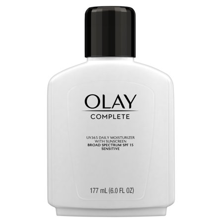 Olay Complete Lotion Moisturizer with SPF 15 Sensitive, 6.0 (Best Moisturizer With Spf)