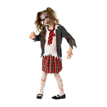 Girls Zombie School Halloween Costume