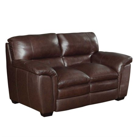 Coaster burton leather loveseat in burgundy Burgundy leather loveseat