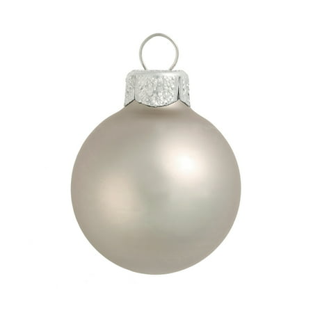 Silver Smoke Ball Ornament (Northlight 12ct Matte Glass Ball Christmas Ornament Set 2.75