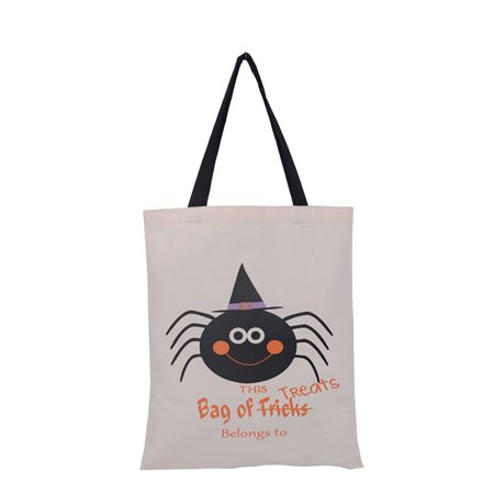 Aspire 6 PCS Halloween Reusable Tote Bags Durable Canvas Trick Or Treat Shopping Bag Gift Storage