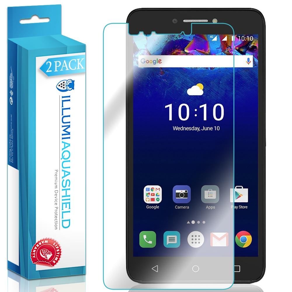 2x iLLumi AquaShield Clear Screen Protector Cover for Alcatel PIXI 4 6""