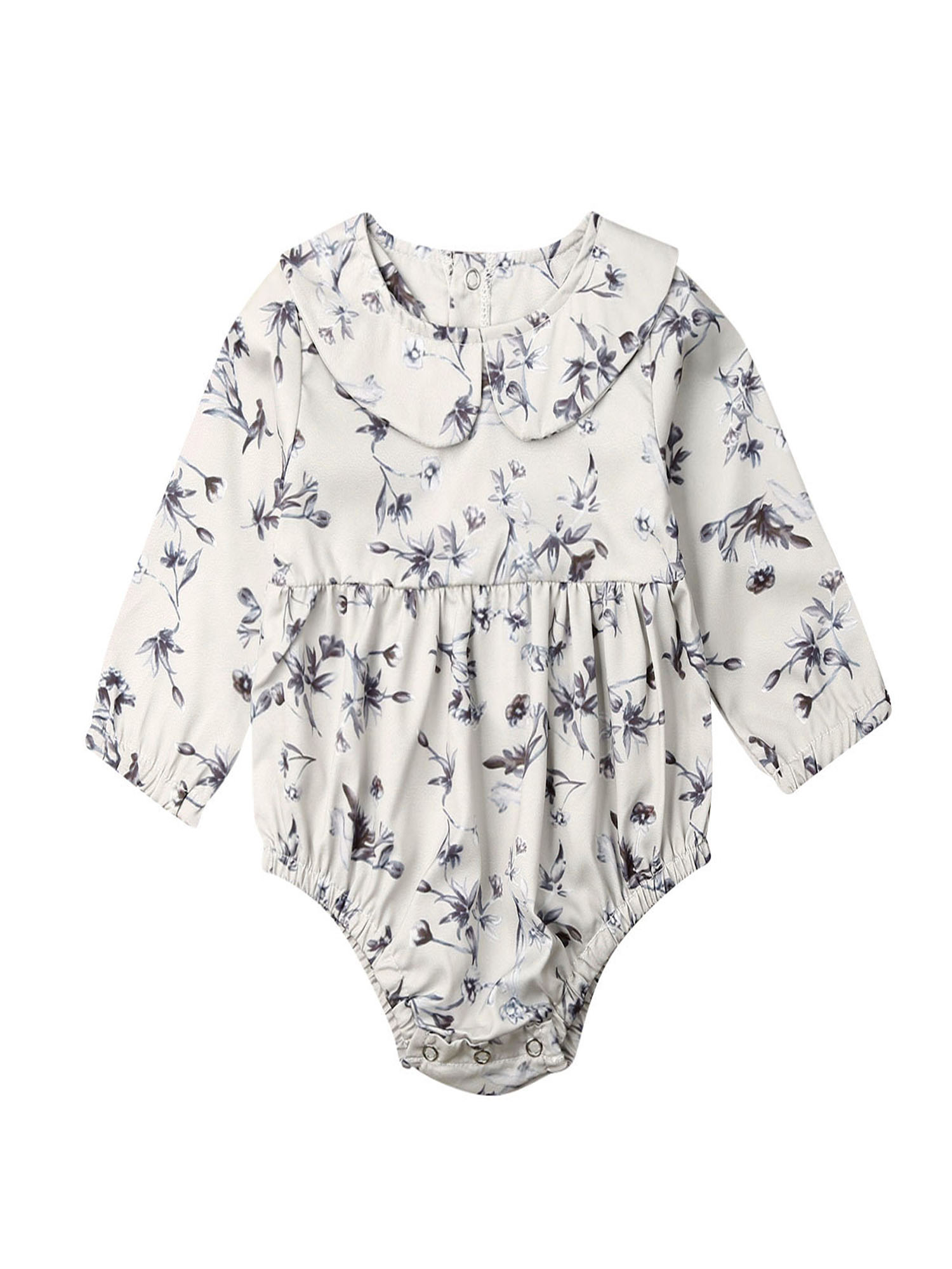 Newborn Baby Girl Clothes Floral Long Sleeve Romper Jumpsuit Bodysuit Outfit New