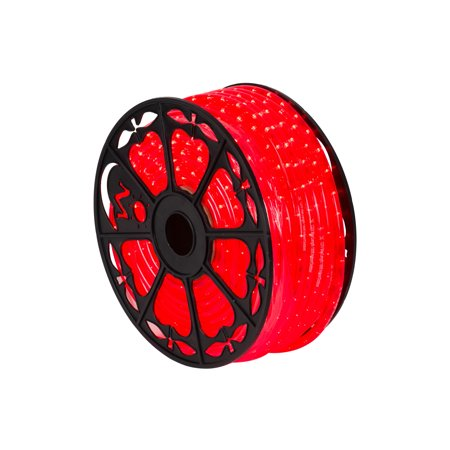 "Image of ""150' x .5"""" Red LED Rope Light 120V"""