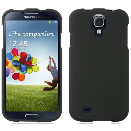 NEW BLACK RUBBERIZED HARD CASE PROTECTOR COVER FOR SAMSUNG GALAXY S4 S IV