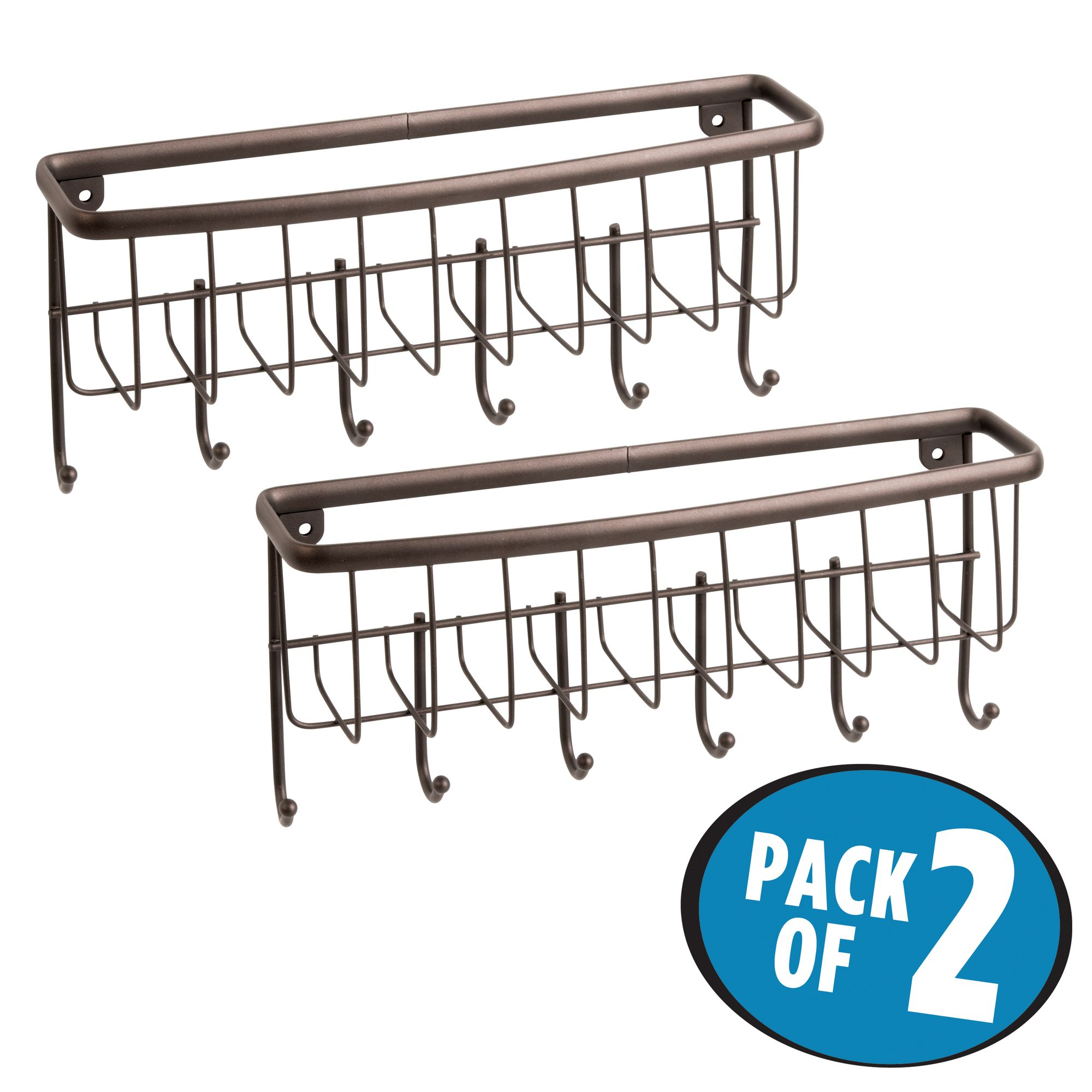 InterDesign Axis Mail and Key Rack, Pack of 2