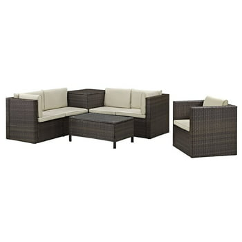 Walker Edison Furniture 7-Piece Wicker Patio Conversation Set