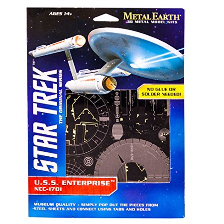 Fascinations Metal Earth Star Trek USS Enterprise NCC-1701 3D Metal Model (Uss Enterprise Cv 6 Model Kit 1 350)