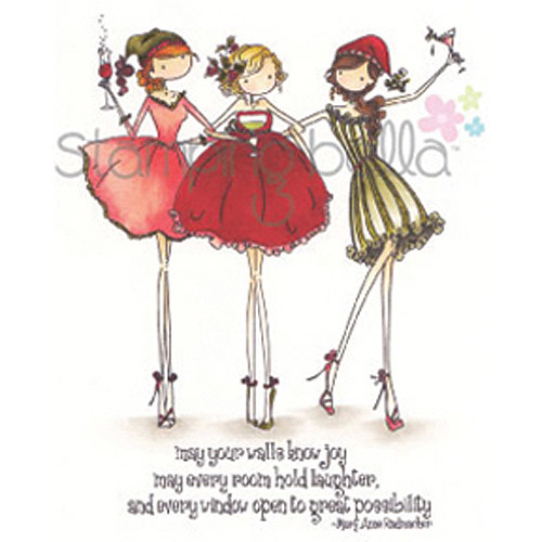 "Stamping Bella Cling Stamp 6.5""X4.5""-Uptown Girls The 3 Amigas"