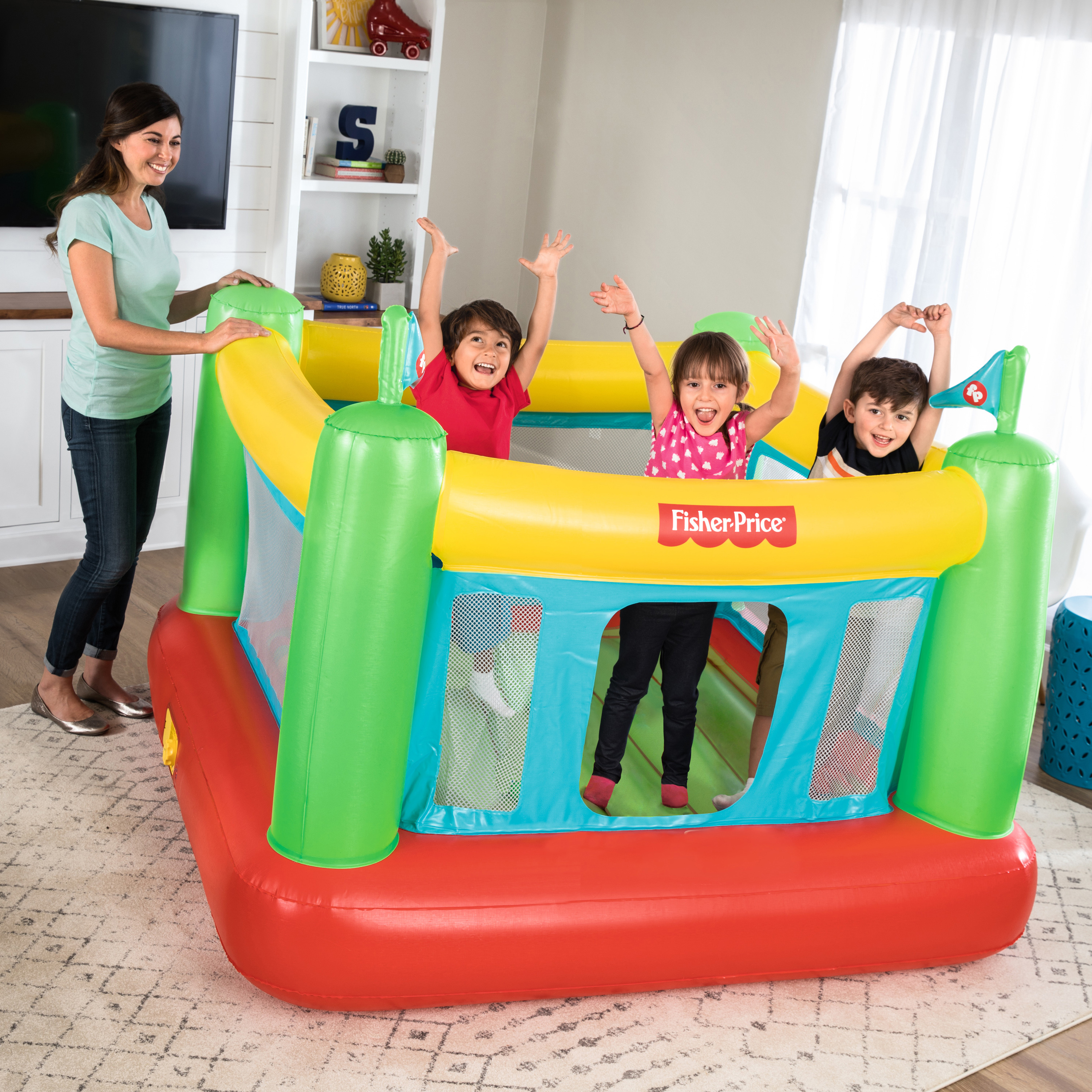 "Fisher-Price 69"" x 68"" x 53"" Bouncer with Built-in Pump"