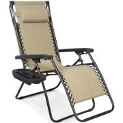 Awesome Best Choice Products Folding Steel Mesh Zero Gravity Recliner Lounge Chair W Adjustable Canopy Shade And Cup Holder Accessory Tray Beige Short Links Chair Design For Home Short Linksinfo