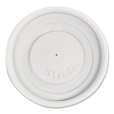 SOLO Cup Company Polystyrene Vented Hot Cup Lids, 4oz Cups, White, 100/Pack, 10 Packs/Carton