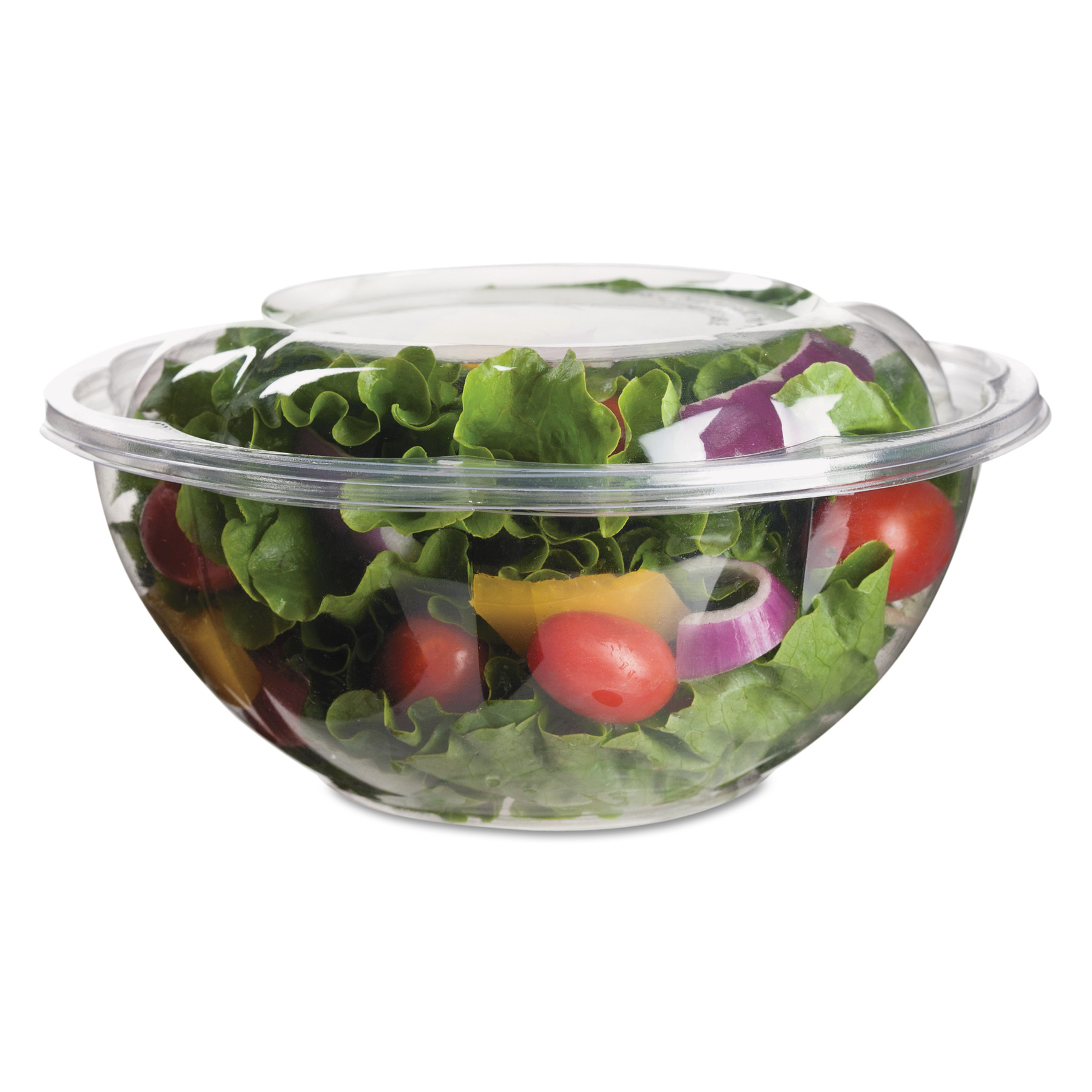 Eco-Products Renewable & Compostable Salad Bowls w/ Lids - 24oz., 50/PK, 3 PK/CT