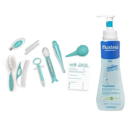 Summer Infant Health & Grooming Kit with PhysiObebe No Rinse Cleansing Fluid, Aqua