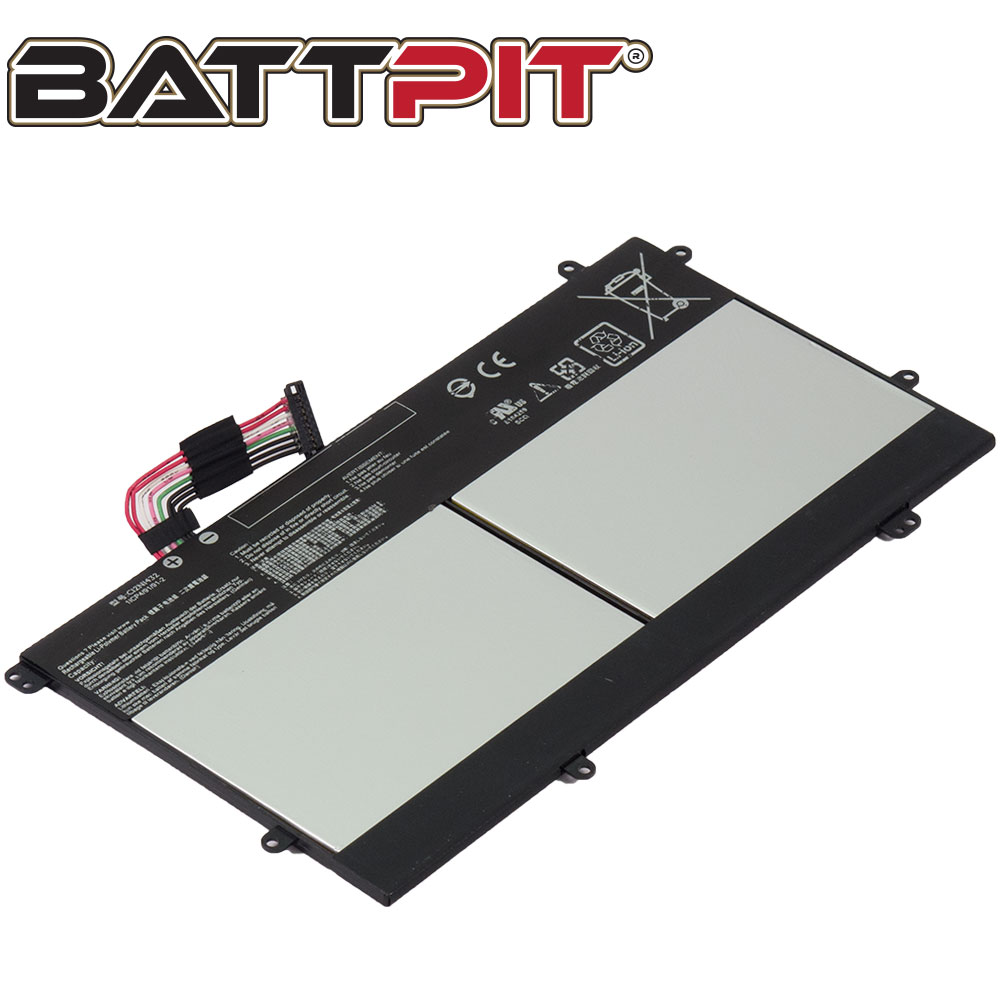 BattPit: Laptop Battery Replacement for Asus C100PA 3J, Chromebook Flip C100PA, 0B2000-0155000, C12N1432 (3.8V 8157mAh 31Wh)