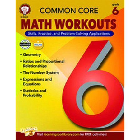Mark Twain Common Core Math Workouts Resource Book, Grade 6, Ages 11 - 12, 64 Pages (Mark Twain Wig)