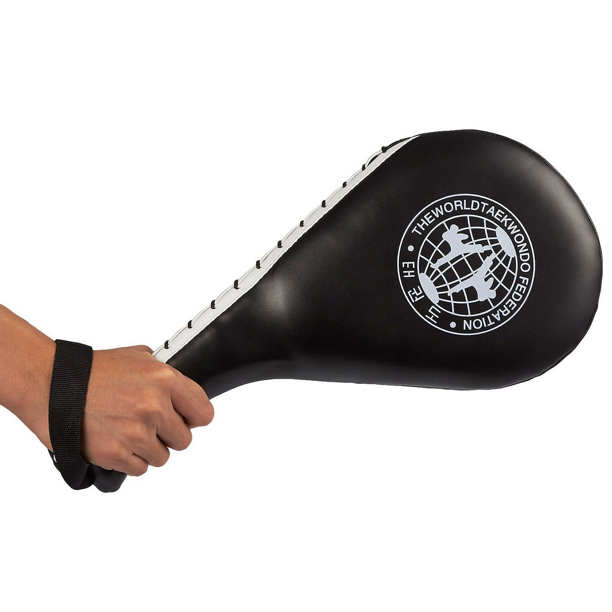 Black 15 x 2.5 x 7.5 Inches Double Kick Durable Strike Pads for Kickboxing Training Combat Sports Karate Kicking Target Pack of 2 Taekwondo Kick Pads