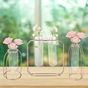 New Glass Test Tube Design Vase Pot Holder Container Flowers Plants Glass Vase Aquaculture Glass Bottle Home Office Decoration