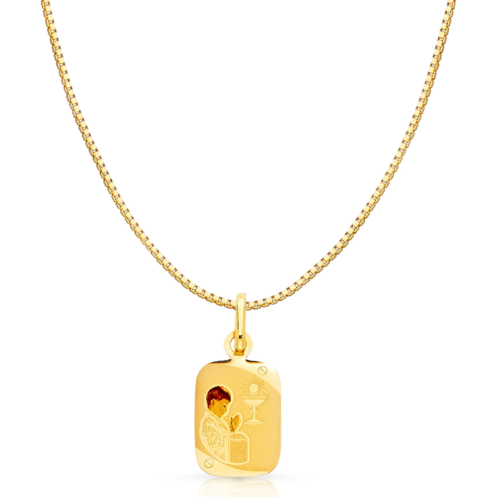 Solid 14k Yellow White Gold Girl /& Boy Charm Pendant
