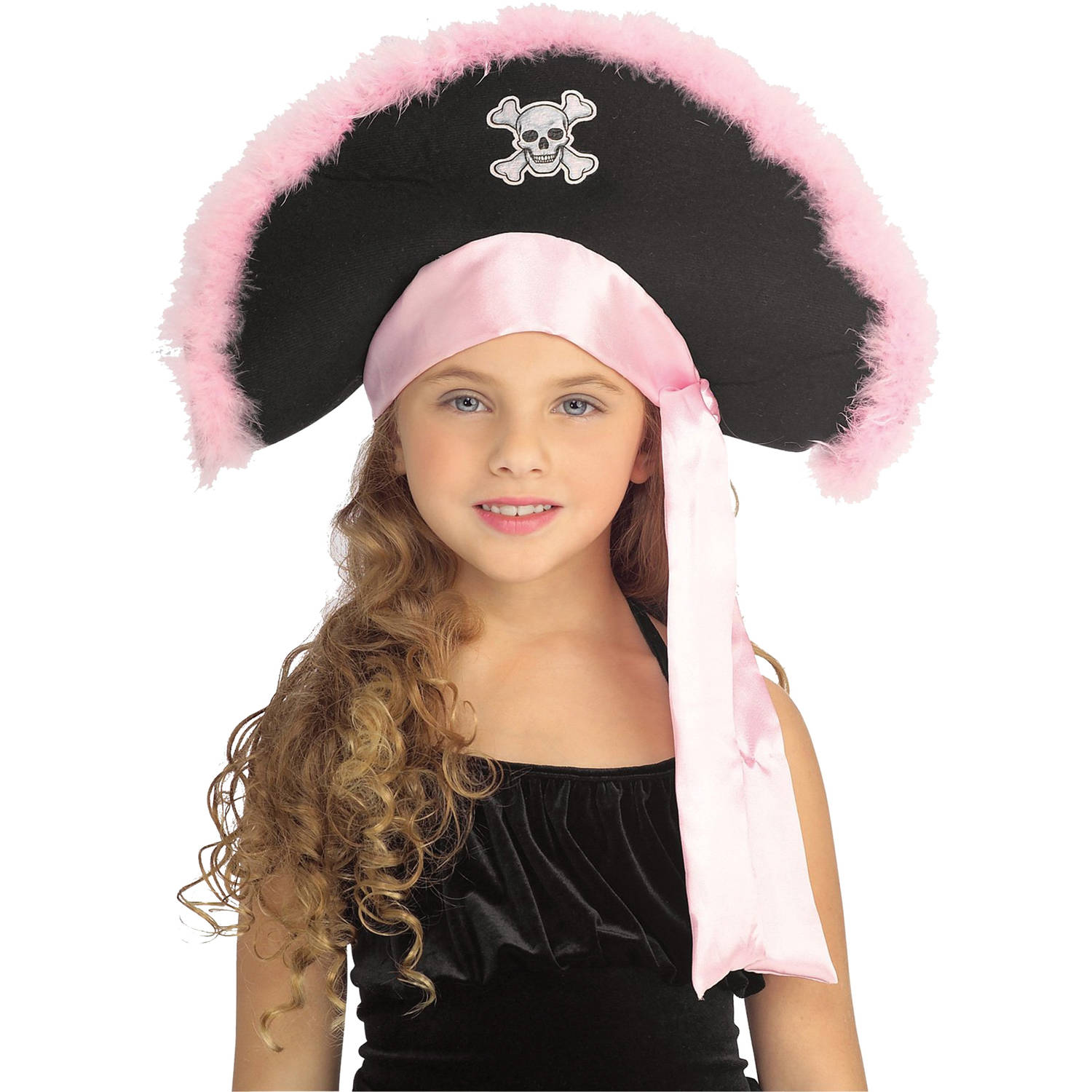 Pirate Hat In Pink Child Halloween Accessory by Generic